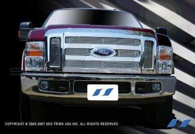 Fits 2008-2010 Ford F-250//F-350 Super Duty Bumper Billet Grille 2009#F65328A