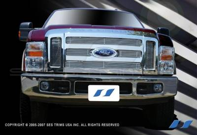Grilles - Custom Fit Grilles - SES Trim - Ford F350 SES Trim Billet Grille - 304 Chrome Plated Stainless Steel - CG170