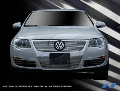 Grilles - Custom Fit Grilles - SES Trim - Volkswagen Passat SES Trim Billet Grille - 304 Chrome Plated Stainless Steel - CG171