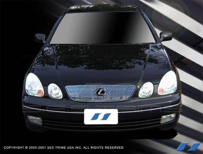 Grilles - Custom Fit Grilles - SES Trim - Lexus GS SES Trim Billet Grille - 304 Chrome Plated Stainless Steel - CG173