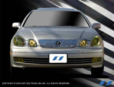 Grilles - Custom Fit Grilles - SES Trim - Lexus GS SES Trim Billet Grille - 304 Chrome Plated Stainless Steel - CG174