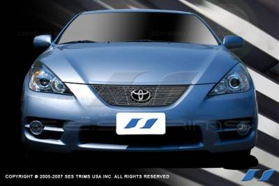 Grilles - Custom Fit Grilles - SES Trim - Toyota Solara SES Trim Billet Grille - 304 Chrome Plated Stainless Steel - CG176
