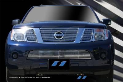 Grilles - Custom Fit Grilles - SES Trim - Nissan Pathfinder SES Trim Billet Grille - 304 Chrome Plated Stainless Steel - Bottom - CG184B