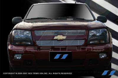 Grilles - Custom Fit Grilles - SES Trim - Chevrolet Trail Blazer SES Trim Billet Grille - 304 Chrome Plated Stainless Steel - CG186