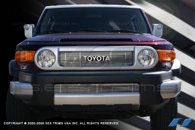 Grilles - Custom Fit Grilles - SES Trim - Toyota FJ Cruiser SES Trim Billet Grille - 304 Chrome Plated Stainless Steel - Top & Bottom - CG188