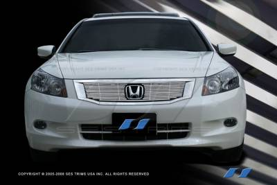 Grilles - Custom Fit Grilles - SES Trim - Honda Accord 4DR SES Trim Billet Grille - 304 Chrome Plated Stainless Steel - CG189