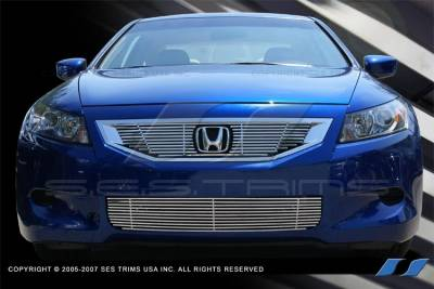 Grilles - Custom Fit Grilles - SES Trim - Honda Accord 2DR SES Trim Billet Grille - 304 Chrome Plated Stainless Steel - Bottom - CG190B