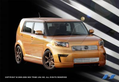 Grilles - Custom Fit Grilles - SES Trim - Scion xB SES Trim Billet Grille - 304 Chrome Plated Stainless Steel - Top - CG196A