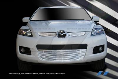 Grilles - Custom Fit Grilles - SES Trim - Mazda CX-7 SES Trim Billet Grille - 304 Chrome Plated Stainless Steel - CG197