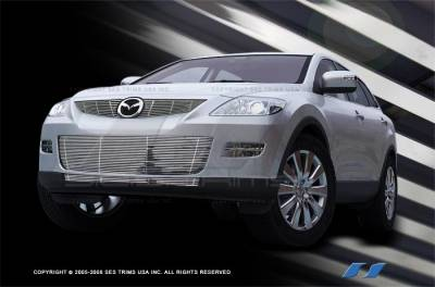 Grilles - Custom Fit Grilles - SES Trim - Mazda CX-9 SES Trim Billet Grille - 304 Chrome Plated Stainless Steel - CG198