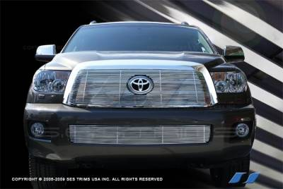 Grilles - Custom Fit Grilles - SES Trim - Toyota Sequoia SES Trim Billet Grille - 304 Chrome Plated Stainless Steel - CG200