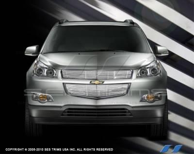 Grilles - Custom Fit Grilles - SES Trim - Chevrolet Traverse SES Trim Billet Grille - 304 Chrome Plated Stainless Steel - CG217