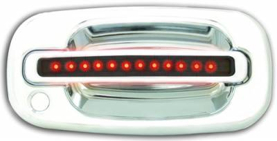 Suv Truck Accessories - Chrome Billet Door Handles - In Pro Carwear - Chevrolet Tahoe IPCW LED Door Handle - Front - Chrome - Both Sides with Key Hole - 1 Pair - CLR99S18F
