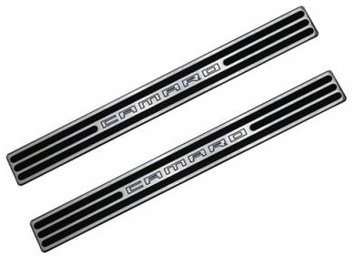 Defenderworx - Chevrolet Camaro Defenderworx Door Sills - Two Tone - Chrome - CT1021