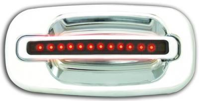 Suv Truck Accessories - Chrome Billet Door Handles - In Pro Carwear - Chevrolet Silverado IPCW LED Door Handle - Rear - Chrome without Key Hole - 1 Pair - CLR99S18R