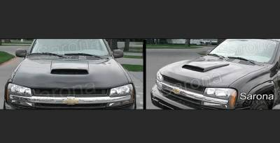 Body Kits - Hood Scoops - Sarona - Chevrolet Trail Blazer Sarona Hood Scoop - CH-004-HS