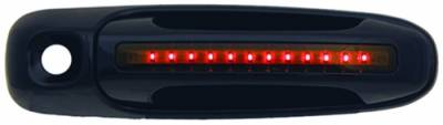 Suv Truck Accessories - Chrome Billet Door Handles - In Pro Carwear - Dodge Dakota IPCW LED Door Handle - Front - Black - Both Sides with Key Hole - 1 Pair - DLR02B04F