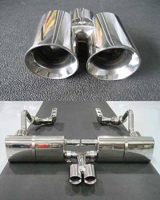 Exhaust - Exhaust Tips - FabSpeed - Dual Style Bolt on Tip