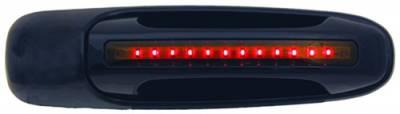 Suv Truck Accessories - Chrome Billet Door Handles - In Pro Carwear - Dodge Dakota IPCW LED Door Handle - Rear - Black without Key Hole - 1 Pair - DLR02B04R