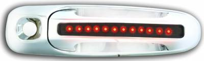 Suv Truck Accessories - Chrome Billet Door Handles - In Pro Carwear - Dodge Dakota IPCW LED Door Handle - Front - Chrome - Both Sides with Key Hole - 1 Pair - DLR02S04F