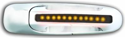 Suv Truck Accessories - Chrome Billet Door Handles - In Pro Carwear - Dodge Dakota IPCW LED Door Handle - Rear - Chrome without Key Hole - 1 Pair - DLY02S04R