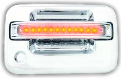 Suv Truck Accessories - Chrome Billet Door Handles - In Pro Carwear - Ford F250 IPCW LED Door Handle - Front - Chrome - Both Sides with Key Hole - 1 Pair - FLA04CF