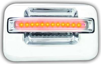 Suv Truck Accessories - Chrome Billet Door Handles - In Pro Carwear - Ford F250 IPCW LED Door Handle - Rear - Chrome without Key Hole - 1 Pair - FLA04CR