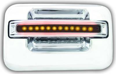 Suv Truck Accessories - Chrome Billet Door Handles - In Pro Carwear - Ford F250 IPCW LED Door Handle - Rear - Chrome without Key Hole - 1 Pair - FLA04SR