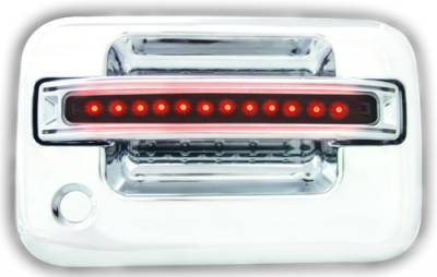 Suv Truck Accessories - Chrome Billet Door Handles - In Pro Carwear - Ford F250 IPCW LED Door Handle - Front - Chrome - Both Sides with Key Hole - 1 Pair - FLR04SF