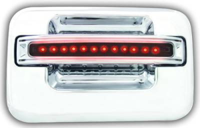 Suv Truck Accessories - Chrome Billet Door Handles - In Pro Carwear - Ford F250 IPCW LED Door Handle - Rear - Chrome without Key Hole - 1 Pair - FLR04SR