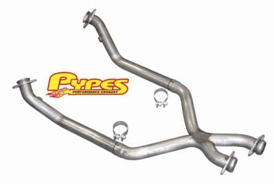 Exhaust - Exhaust Pipes - Pypes - Ford Mustang Pypes 409 Stainless Steel Off-Road X-pipe - 20003