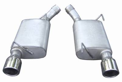 Exhaust - Custom Fit Exhaust - Pypes - Ford Mustang Pypes 409 Stainless Steel Violator Axle-Back with Polished 304 Tips - 20013