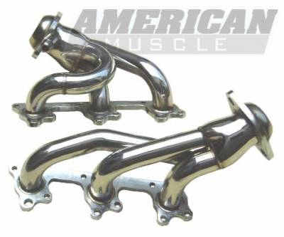 Exhaust - Headers - Pypes - Ford Mustang Pypes Polished 304 Stainless Steel Shorty Headers - 20035