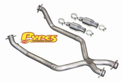 Exhaust - Exhaust Pipes - Pypes - Ford Mustang Pypes 409 Stainless Steel Catted X-Pipe - 20037
