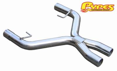 Exhaust - Exhaust Pipes - Pypes - Ford Mustang Pypes 409 Stainless Steel Cut & Clamp X-Pipe - 20042