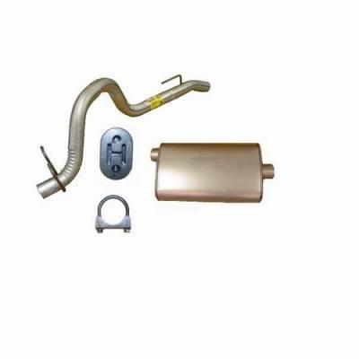 Exhaust - Mufflers - Omix - Omix Muffler with Tailpipe - 17611-03