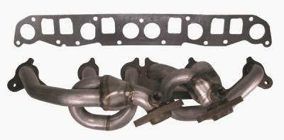 Exhaust - Headers - Omix - Rugged Ridge Header - 409 Stainless Steel - 17650-02