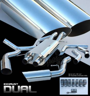 Exhaust - Custom Fit Exhaust - OptionRacing - Cadillac Escalade Option Racing Cat-Back Exhaust System - 41-14183