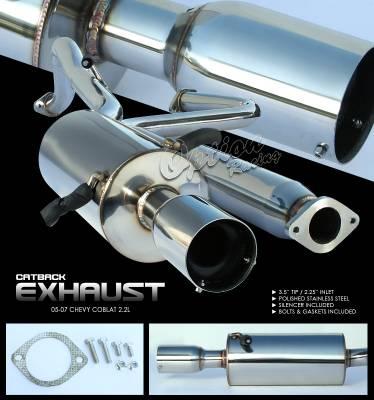 Exhaust - Custom Fit Exhaust - OptionRacing - Chevrolet Cobalt Option Racing Cat-Back Exhaust - 41-18135