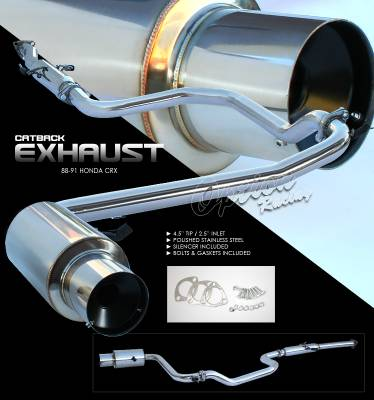 Exhaust - Custom Fit Exhaust - OptionRacing - Honda CRV Option Racing Cat-Back Exhaust - 41-20137