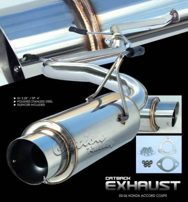 Exhaust - Custom Fit Exhaust - OptionRacing - Honda Accord 2DR Option Racing Cat-Back Exhaust System - 41-20144