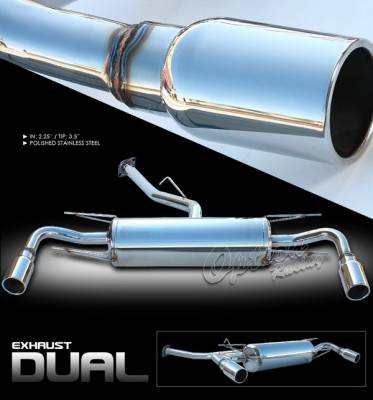 Exhaust - Custom Fit Exhaust - OptionRacing - Mazda RX-8 Option Racing Cat-Back Exhaust System - 41-31169