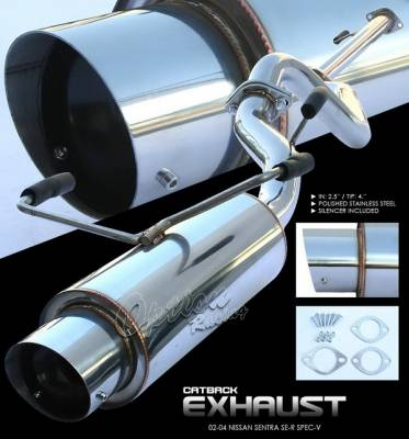 Exhaust - Custom Fit Exhaust - OptionRacing - Nissan Sentra Option Racing Cat-Back Exhaust System - 41-36147