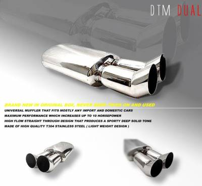 Exhaust - Mufflers - OptionRacing - Option Racing DTM Dual Tip 3 inch 44-99115