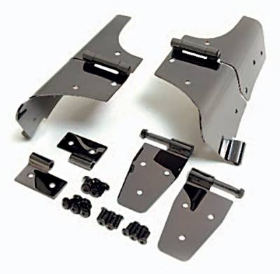 Factory OEM Auto Parts - Lambo Doors And Handles - Omix - Rugged Ridge Door Hinge Kit - For Use with Full Doors - 11180-01