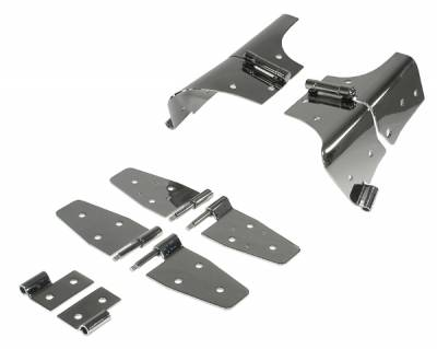 Factory OEM Auto Parts - Lambo Doors And Handles - Omix - Rugged Ridge Door Hinge Kit - For Use with All Doors - 11180-02