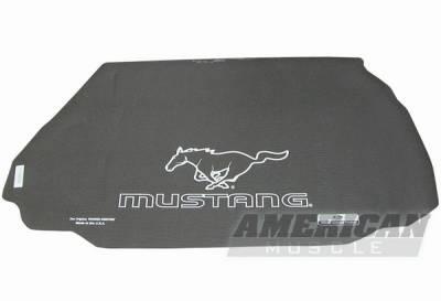 Car Interior - Floor Mats - Fender Gripper - Ford Mustang Fender Gripper Trunk Mat with Running Pony