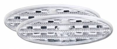 Headlights & Tail Lights - Corner Lights - In Pro Carwear - Chevrolet Corvette IPCW Side Markers - Rear - Diamond Cut - CWS-331