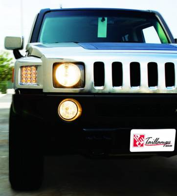 Headlights & Tail Lights - Corner Lights - In Pro Carwear - Hummer H3 IPCW LED Park Signals - Front - 1 Pair - LEDC-346C
