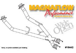 Exhaust - Crossover Pipes - MagnaFlow - MagnaFlow Transition Tru-X Crossover Pipe - 15442